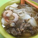 Pork Rib Prawn Mee Soup ($4) 🍤 Not sure what to eat but the long queue at this stall attracted me 🤔 This must be good & true enough, it's yummy!