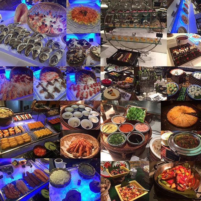 Halal-certified sumptuous buffet spread offering wide selection of Asian & International cuisines.