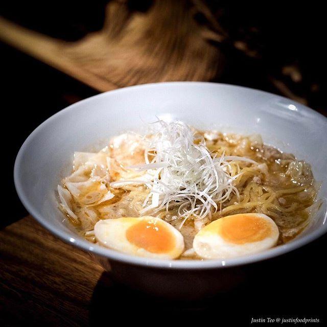 [New Restaurant by Michelin Starred Chef Mieda] Amaebi Shio Ramen ($16.50).