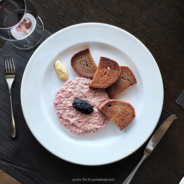 [New Lunch Menu] Steak Tartare with Caviar ($25).