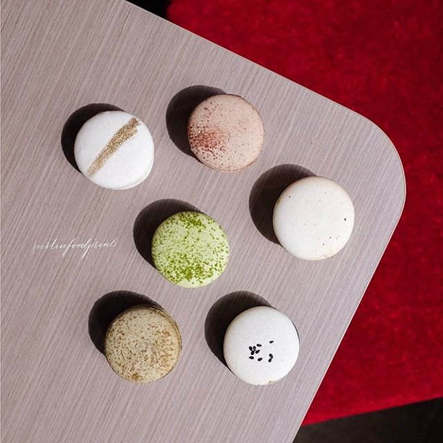 Macarons in Japanese Flavours ($3 each, $17 for six).