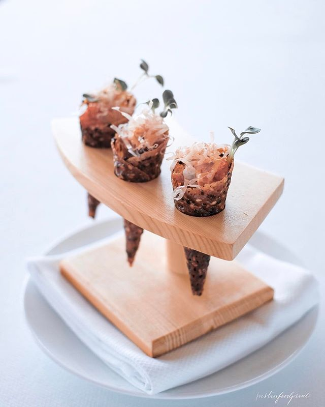 Big Eye Tuna Tartare Cones ($36++ during dinner, or have 2 cones as appetizer of 3 course lunch at $45++).