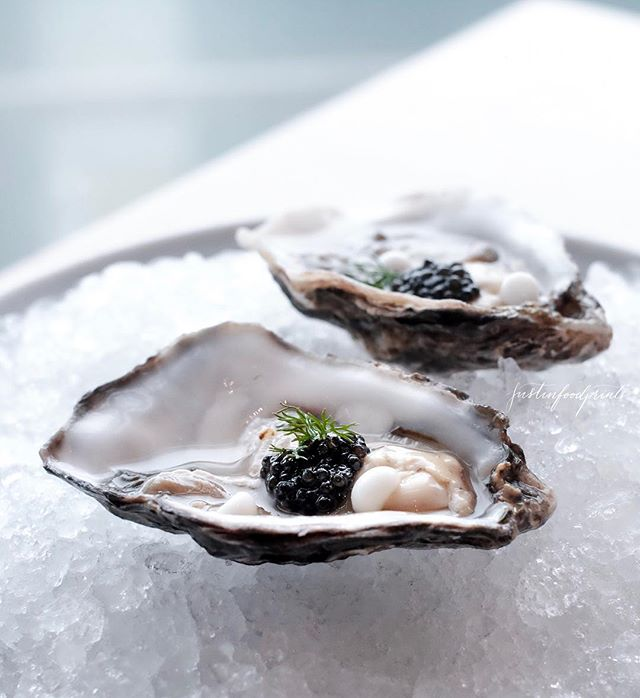 Freshly shucked oysters ($7 each).