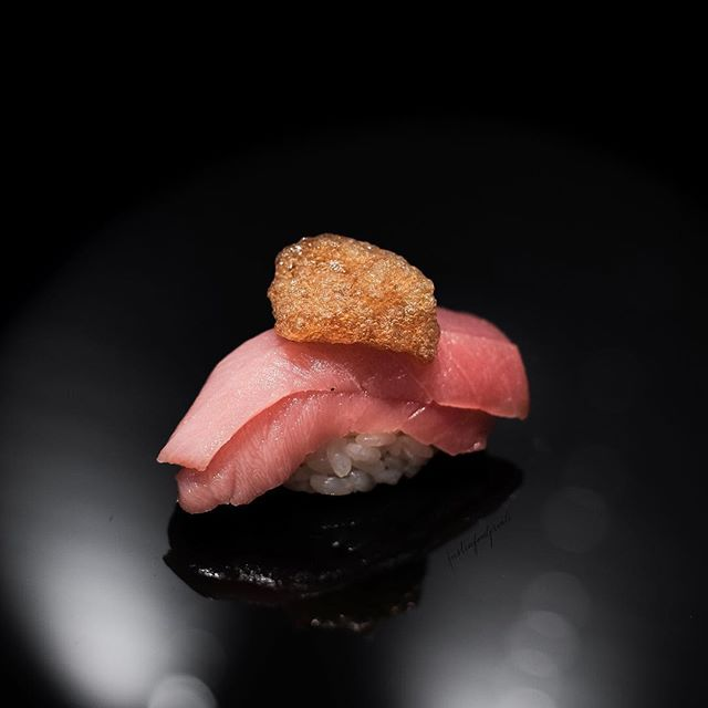 [Burpple Sushi Month] Double Chutoro with Shoyu Foam ($98 sushi omakase).