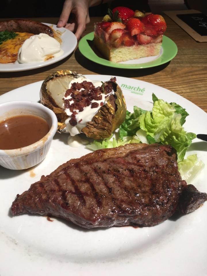 Grilled Sirloin Steak, Baked Potato & Salad