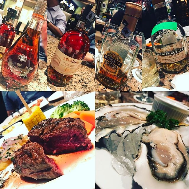 Knights of the dinner table #tenderloin #oysters #whiskey #brandy #food #foodporn #burpple #malaysia #montkiara #casarosa #yummy #chill #drink #chillax #appreciate #感恩