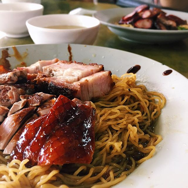 Roast Duck and Meat With Noodles