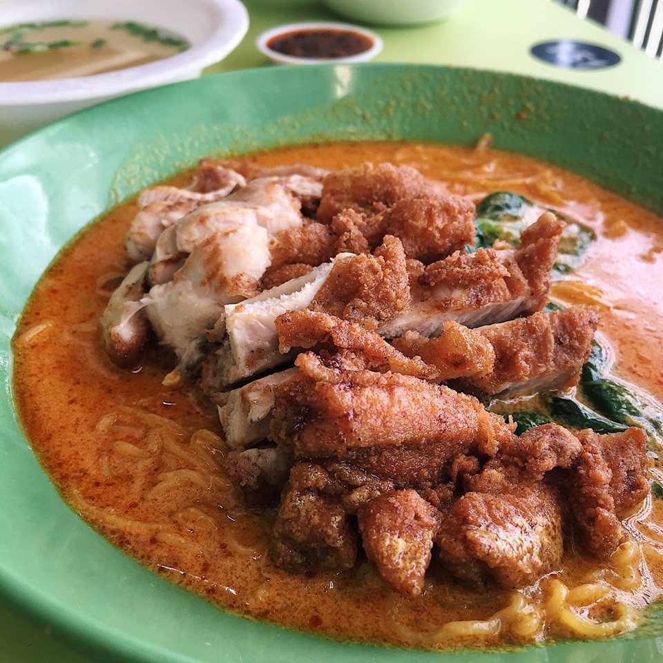 Chicken Cutlet Curry Noodle ($4)