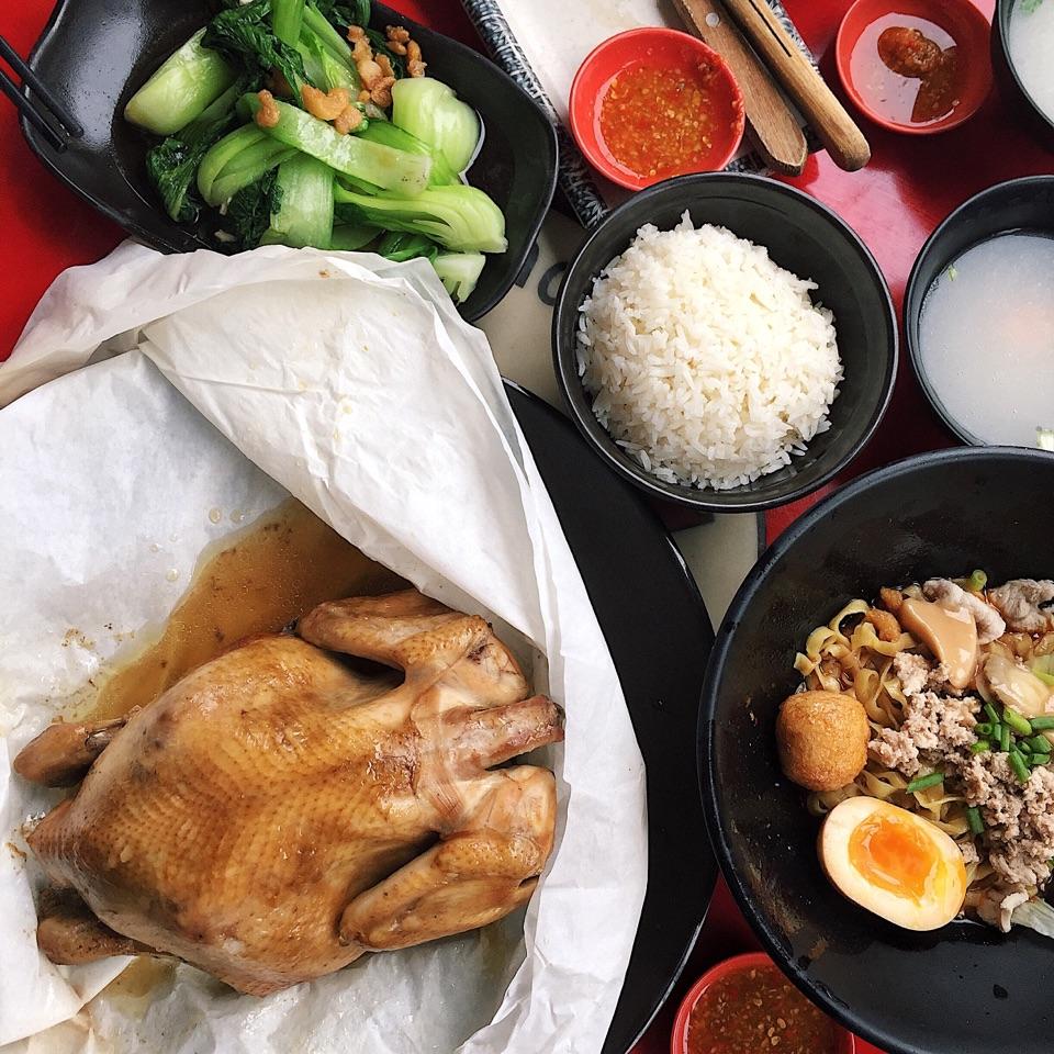 Lam's Salt Baked Kampung Chicken ($23.80)