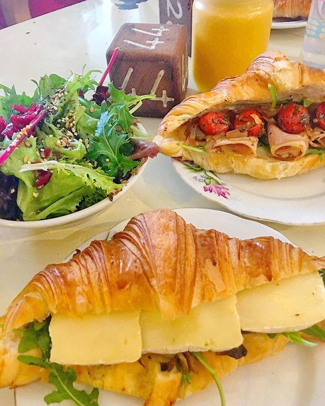 *New* Mushroom&brie Croissant ($8.50) Roast Beef Croissant ($9) @tiongbahrubakery ..