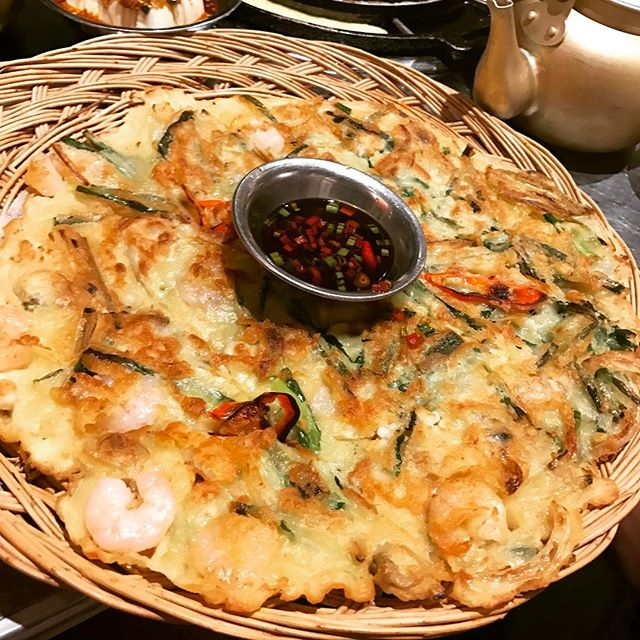 Seafood Pancake ($19) @wangdaebakbbq it's still one of the best Korean seafood pancakes I hv had in Singapore.