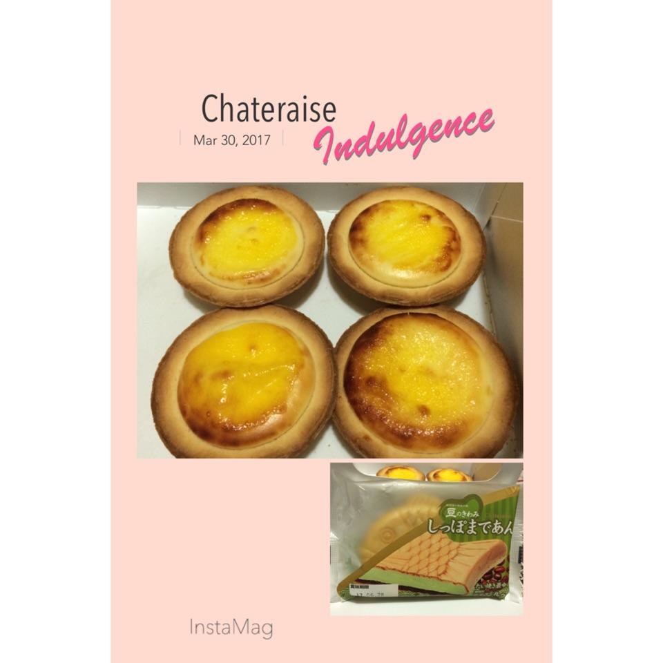 Baked Cheese Egg Tarts & Matcha Ice-cream