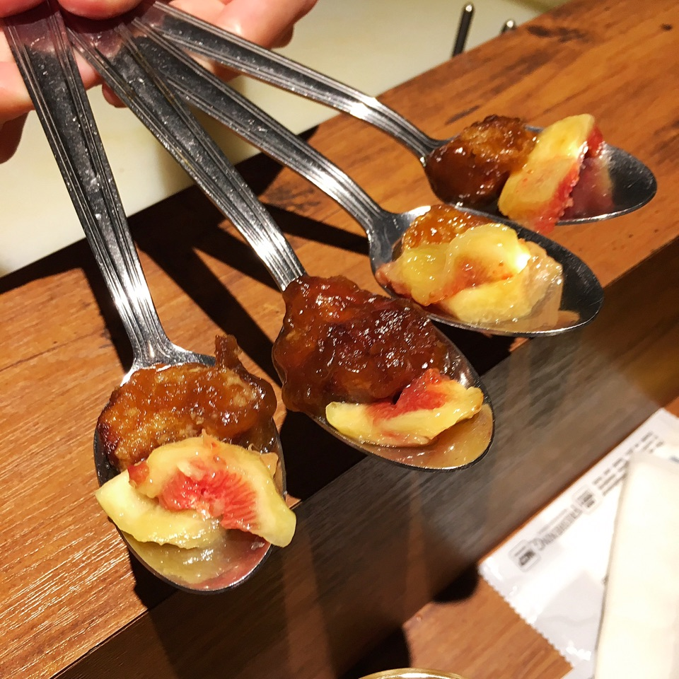 Goat's liver with figs