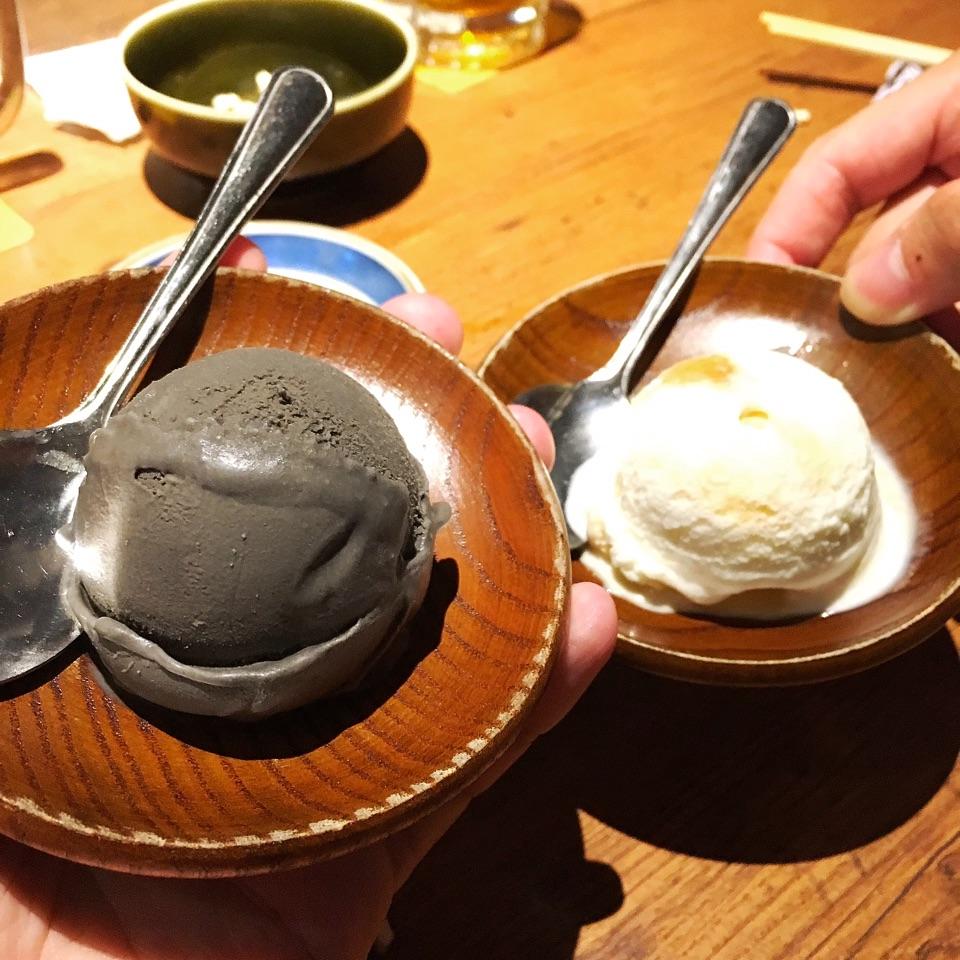 Goma and Yuzu Ice Cream