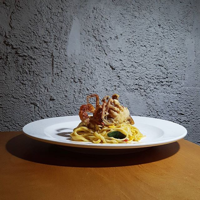 ❤❤❤❤❤❤❤ * [New item] * Soft Shell Crab Salted Egg Pasta * How does it sounds?
