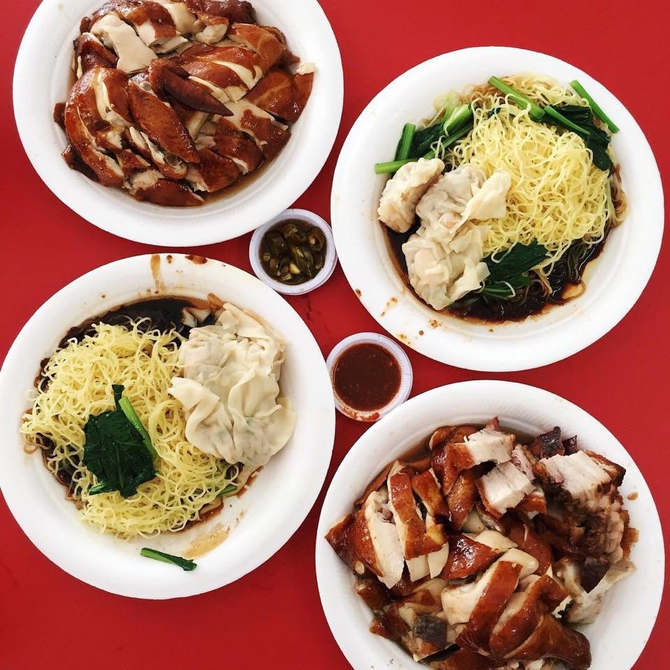 Soy Sauce Chicken & Dumpling Noodles