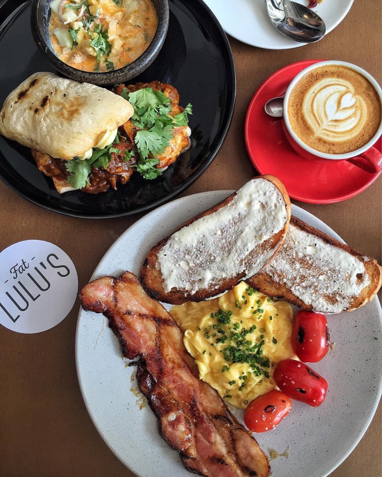 Croque Tambi ($18) and Bacon & Eggs ($22)