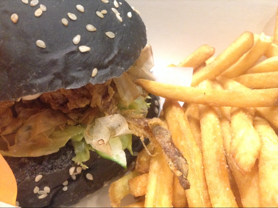 Soft Shell Crab Charcoal Burger