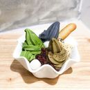Matchaya @matchayasg - Soft Serve Specialties (💵S$12.90 for Triple Flavours Bowl) Matcha, Houjicha, Black Sesame Soft Serve with Shiratama, Rice Puffs, Azuki Beans & Butter Biscuit.