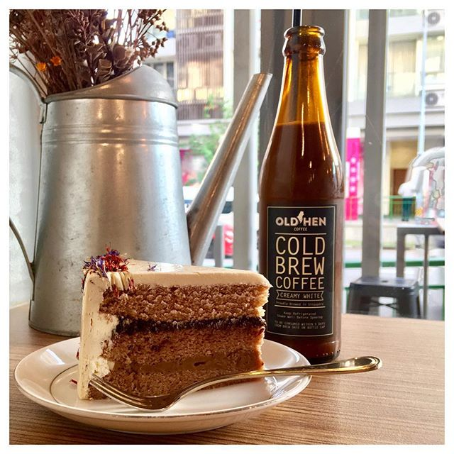 Earl Grey Lavender and Creamy White Cold Brew 🍰☕️ Mondays deserve coffee and a slice of cake to wish me a motivating, productive and less stressful week.