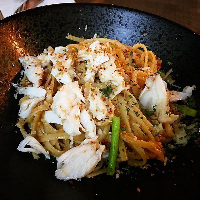 Crabmeat aglio olio 🍝 quite good!