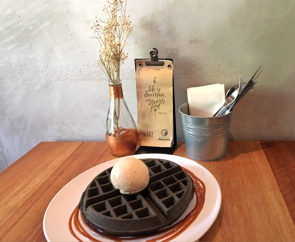 Waffles & Ice Cream For Dessert
