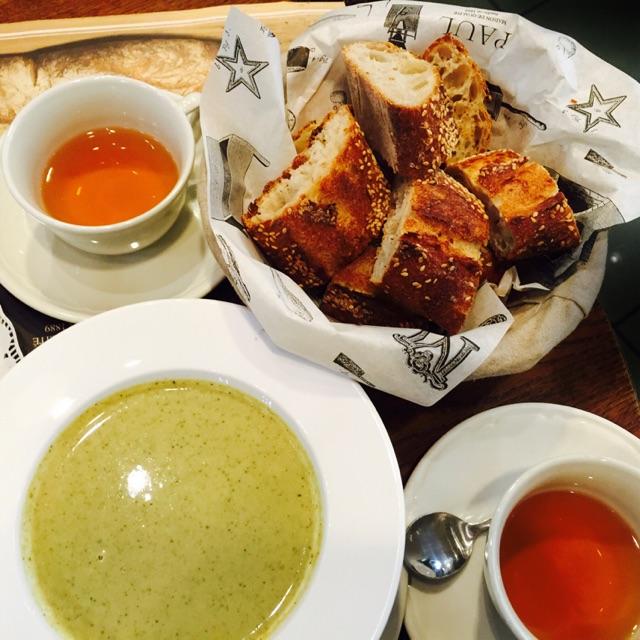 Sesame Flute & Broccoli Soup