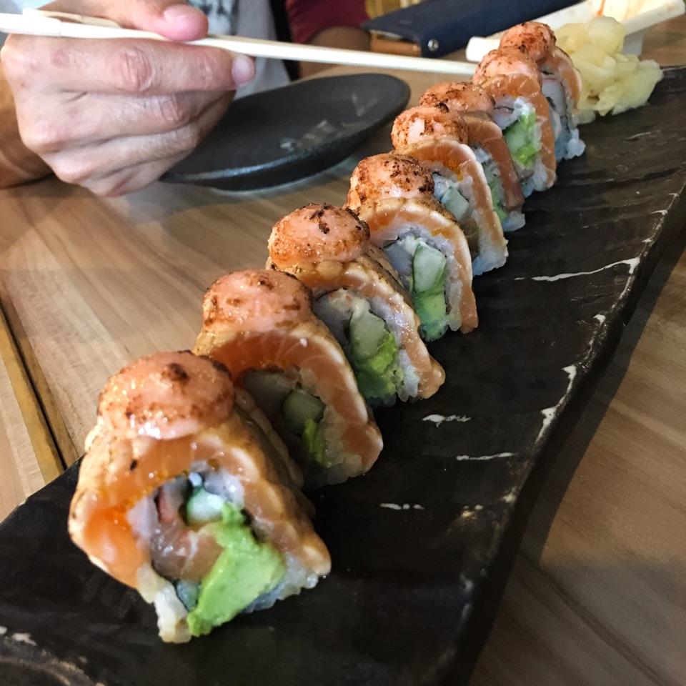 Aburi Salmon Roll ($16.90)