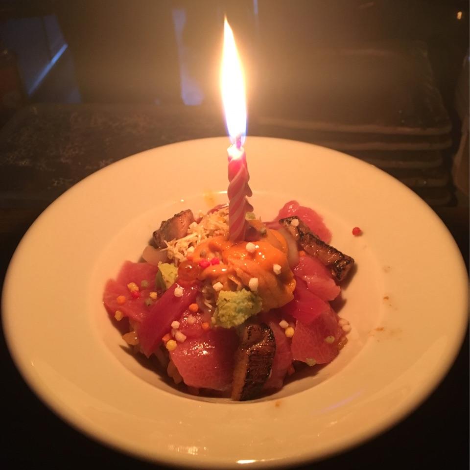"""Sushi Birthday """"Cake"""" (Omakase)"""