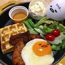 Eggcited Cajun Chicken with Waffles