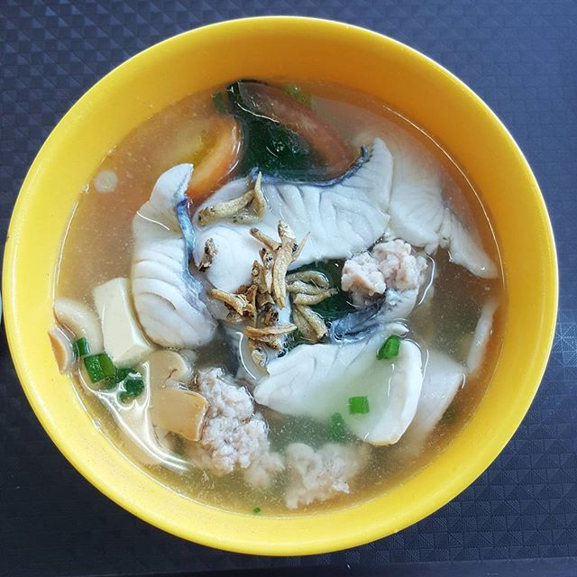 7🌟 / 10🌟 Yummy and Fresh Sliced Fish Soup Noodle @ S$4 from Tanglin Halt Food Centre at Commonwealth Drive