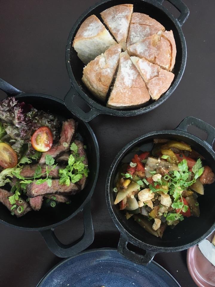 Set Lunch RM32-58 | Grilled Beef Rib-eye (80gr), Ratatouille, Mango Tatin