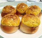 These soft buns capped with a fragrant baked layer encasing juicy BBQ pork were delicious till the very last bite!