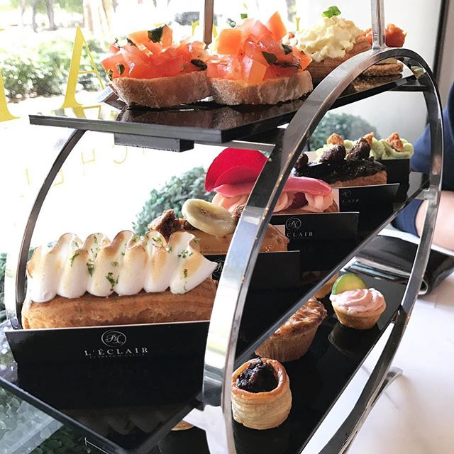 Waking up in time for high tea 😍 #leclair #sgfoodie #whati8today #burpple #hightea
