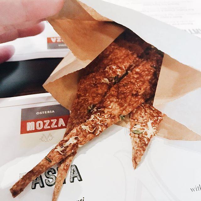 Cheese snaps/breadsticks #burpple #burpplesg #greedtakesoversg #osteriamozza #breadsticks