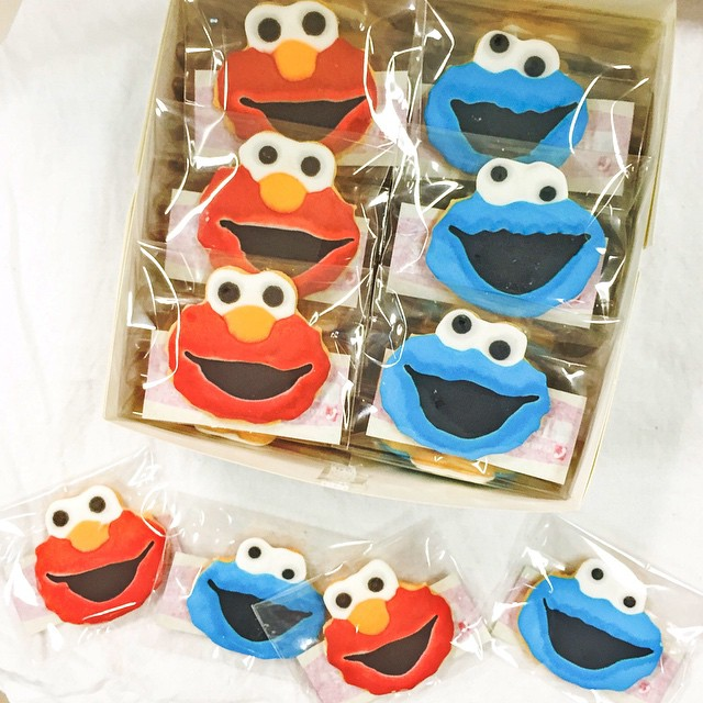 got these sesame street cookies from effinaa    (8/50)