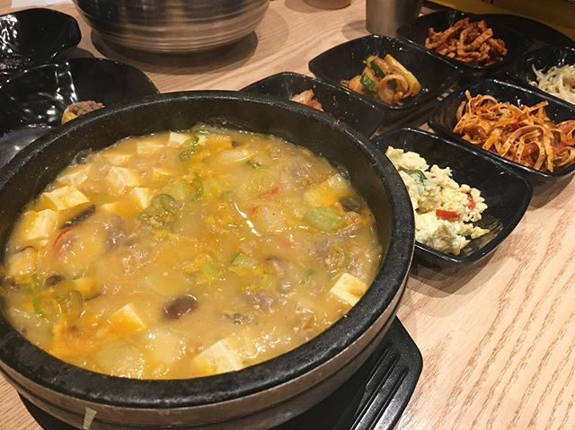 Doen-jang jigae (soybean paste stew, with beef) S$15  I love hearty stews.