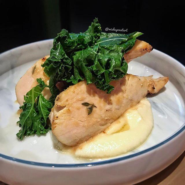 Honey garlic miso chicken breast.