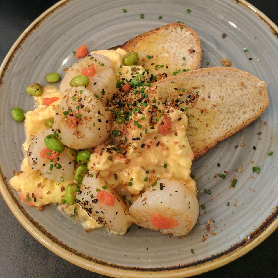 Hokkaido Scallops + Mentaiko Scrambled Eggs