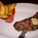 Charcoal Grill Angus Sirloin Beef served with duck fat fries