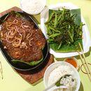 #throwback #latergram Piping hot from the stove - BBQ Stingray & Sambal Kang Kong!