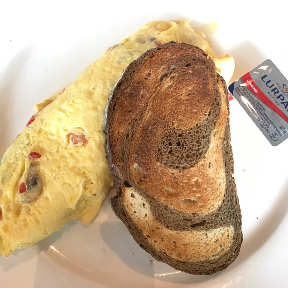 Omelette With Choice Of Bread