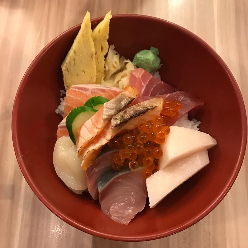 sashimi over rice!