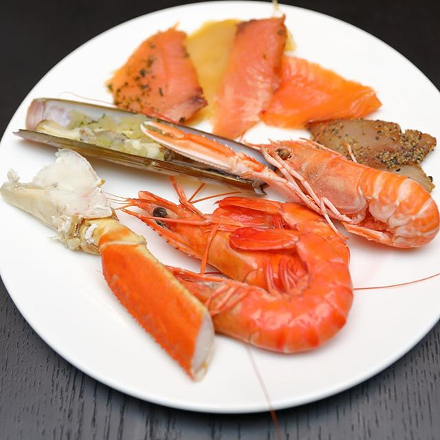 [South Beach Kitchen] - Cold seafood section for the buffet spread.