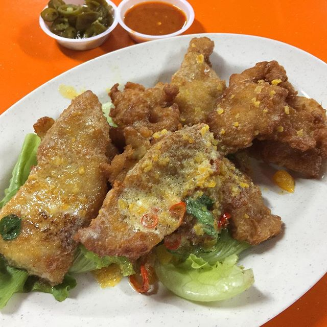 [Famous JB101 Firewokz] - Salted Egg Spare Ribs ($12 small).