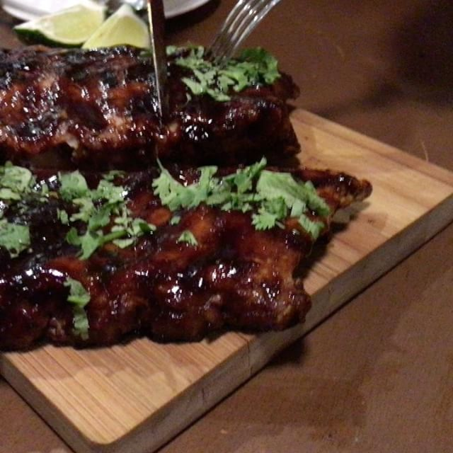 Spicy BBQ Pork Ribs that was part of dinner last night.