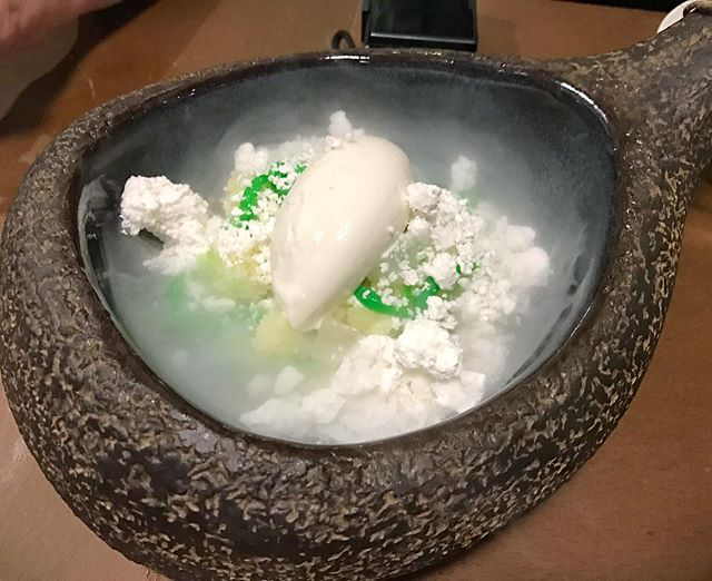 "Dessert that's not on the usual menu, but the ""board special"" - ""Pineapple and Coconut Ice Kacang""."