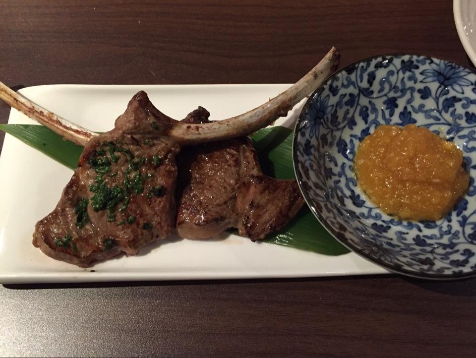 Lamb Chop With Pineapple Miso Sauce