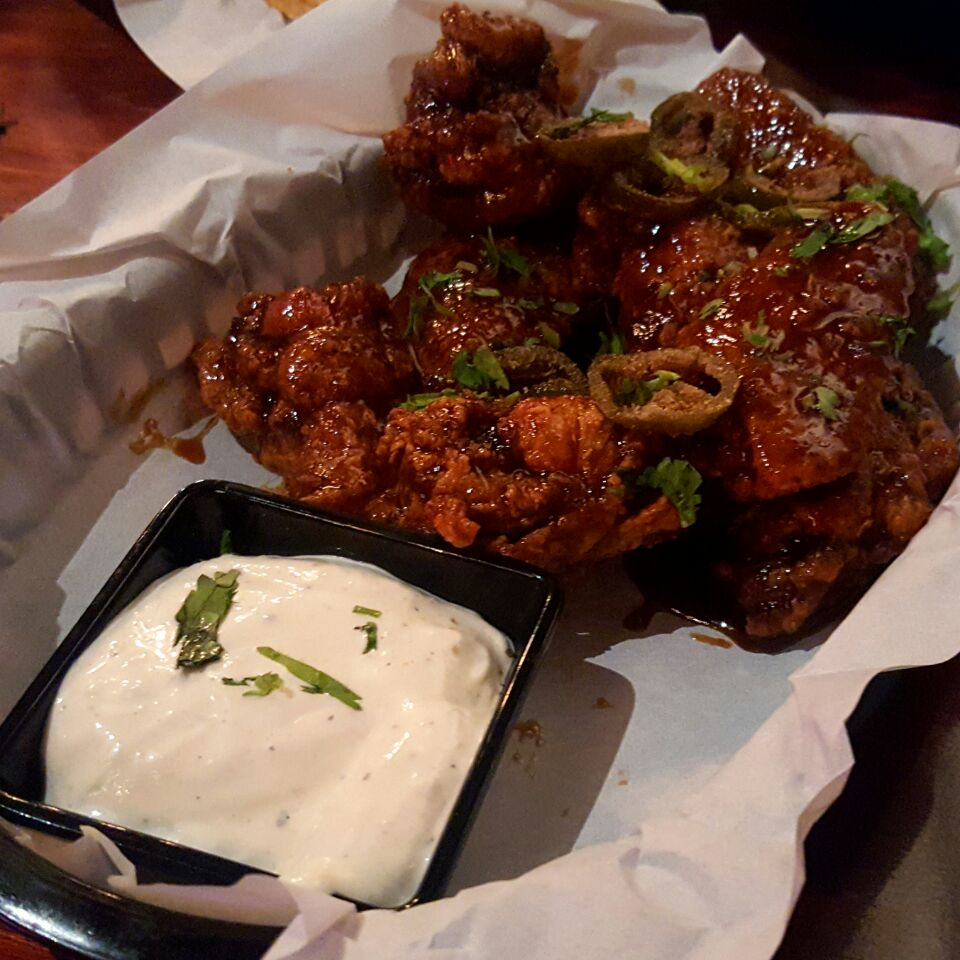 Honey Chicken Wings With Blue Cheese Dip