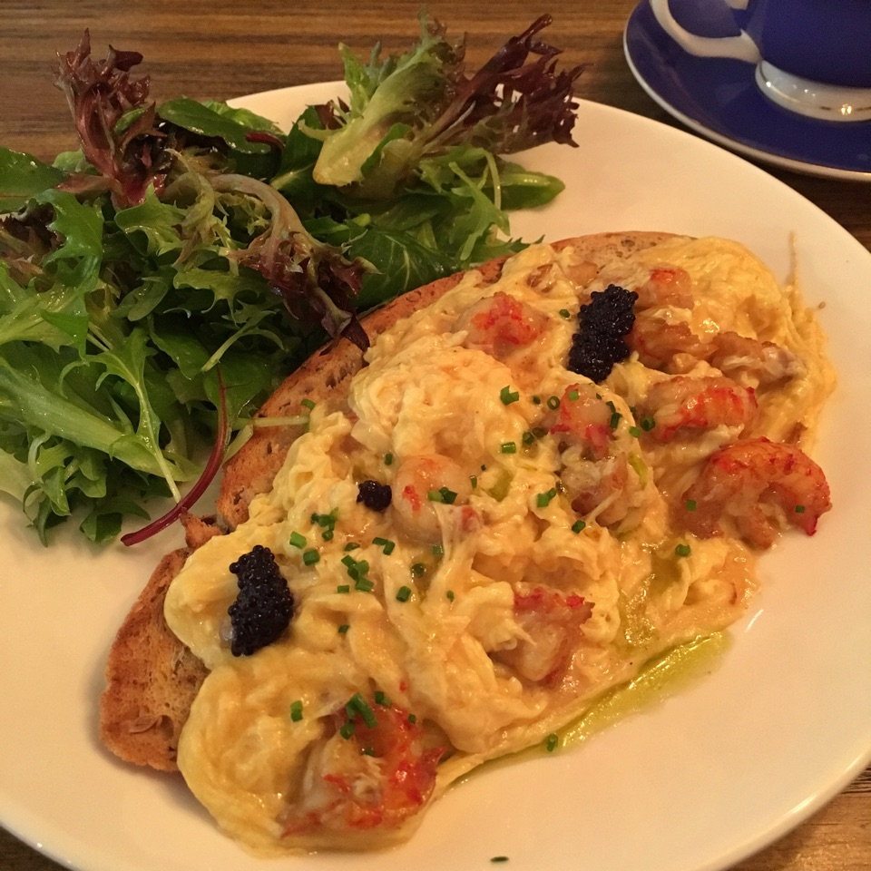Scrambled Eggs with Crayfish
